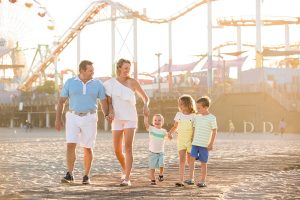 {T} Family Photography Santa Monica Beach and Pier