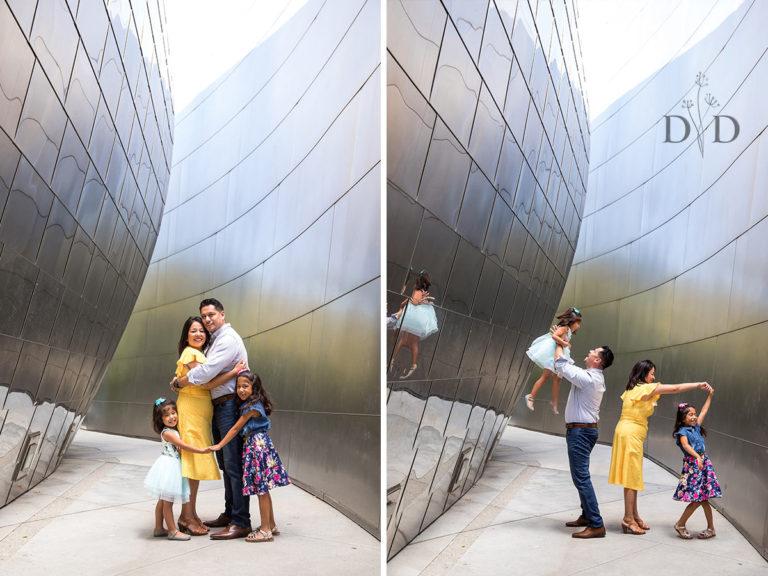 The {V} Family Photography Los Angeles, Walt Disney Concert Hall