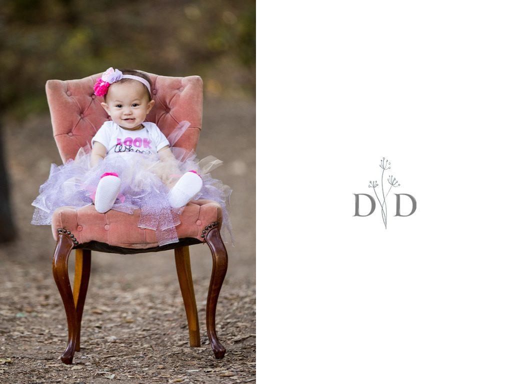 First Birthday Photos on a Chair