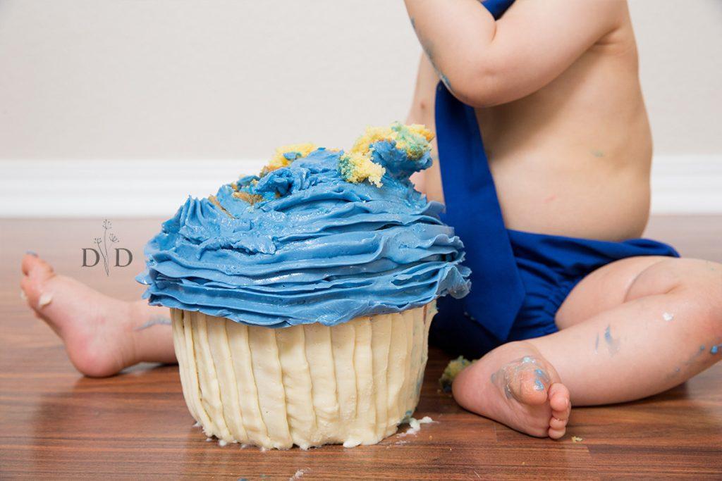 Giant Blue Cupcake