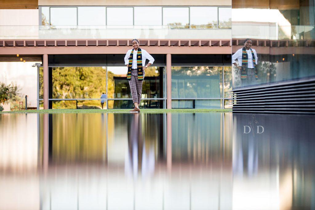 Claremont McKenna Grad Photo Water Reflection