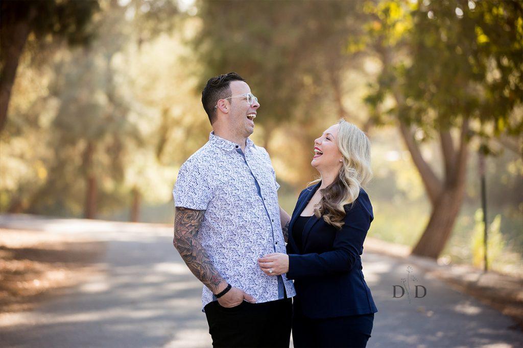 Grad Photos with Husband