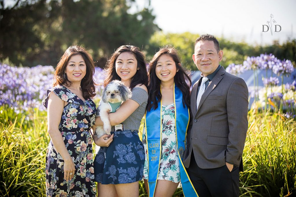 UCSB Family Photo with Grad