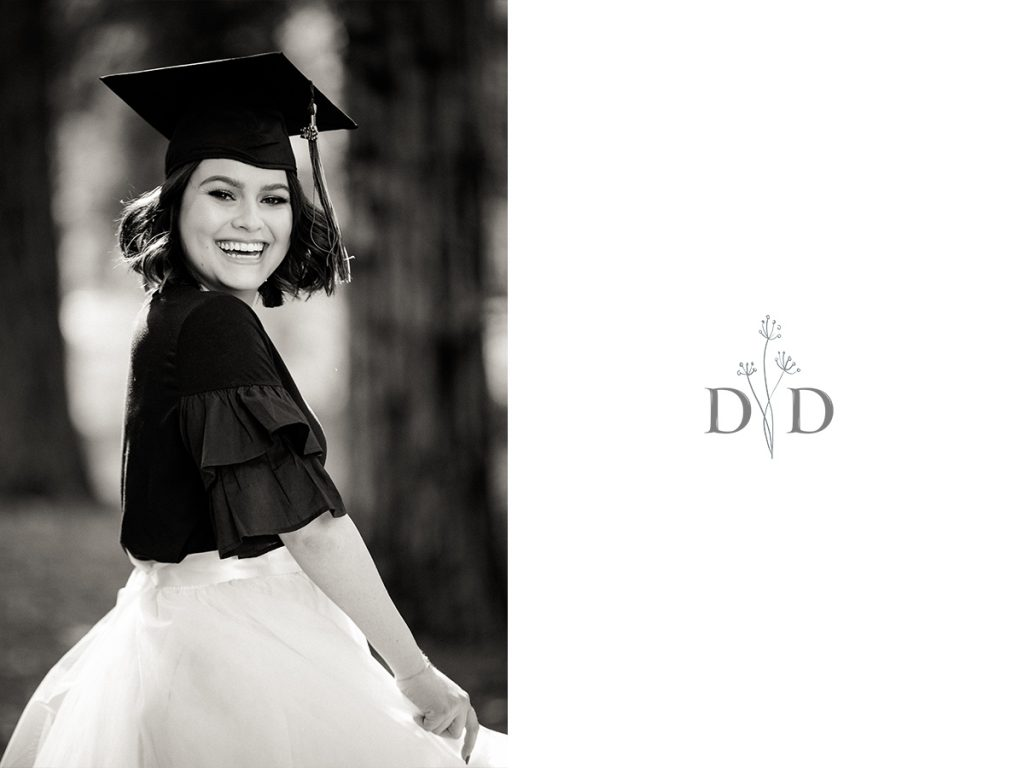 Claremont Graduation Photo BW