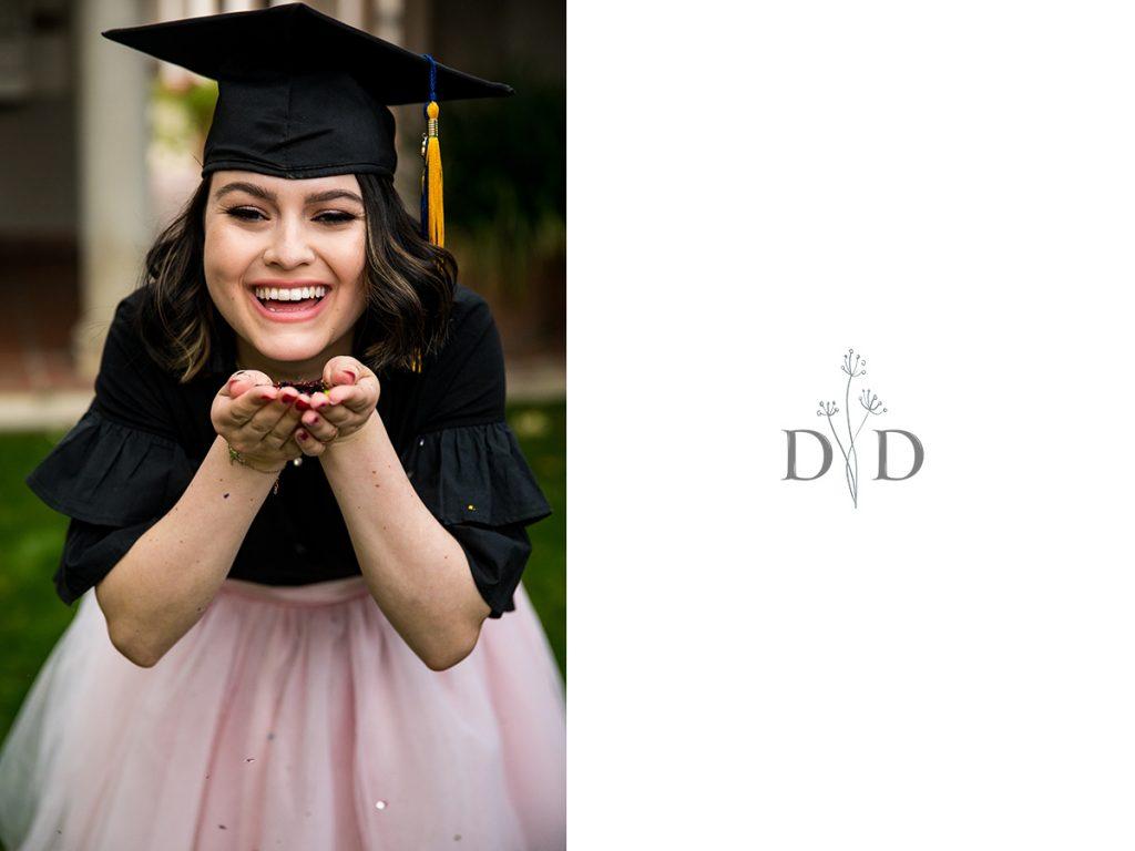 Grad Photo with Confetti