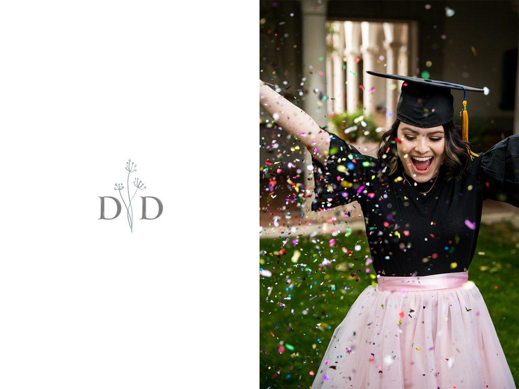 Grad Photo Tossing Confetti
