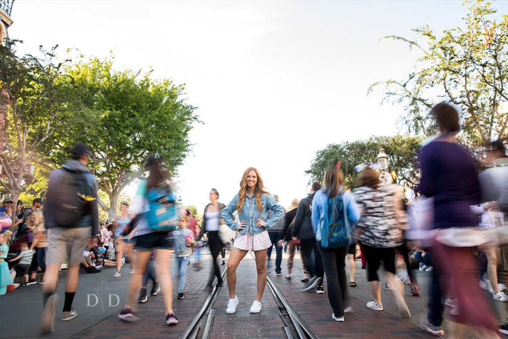 Disneyland Main Street Grad Photo