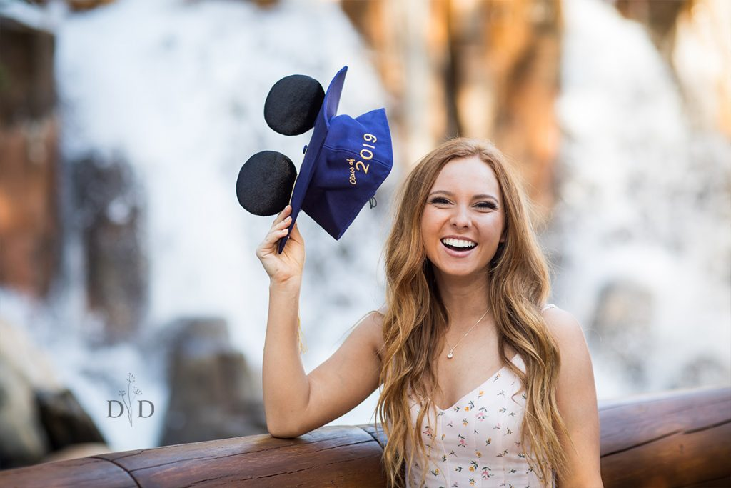 Disney Graduation Cap Photo