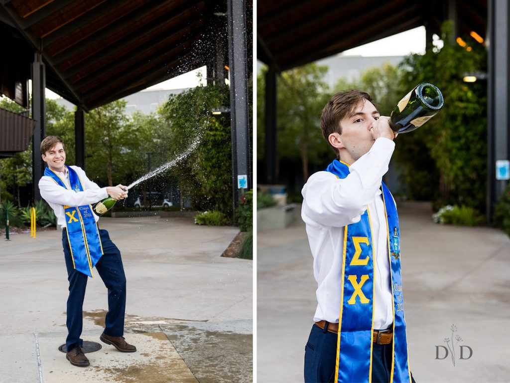 Grad Photography Champagne Opening