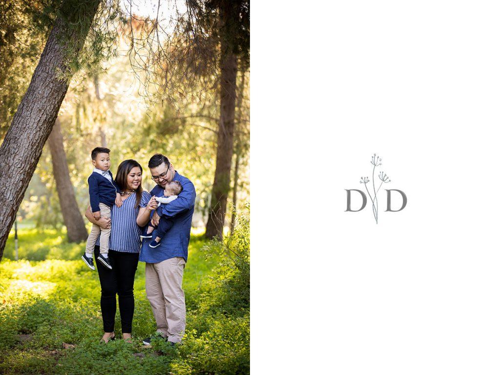 Family Photo at Yorba Linda Regional Park