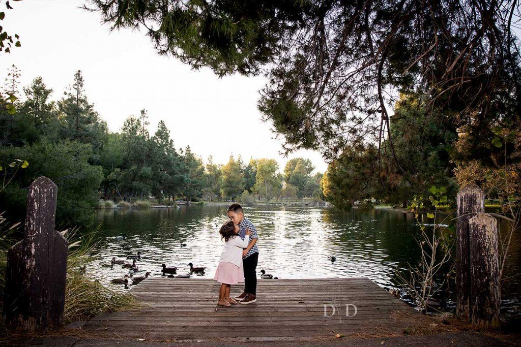 Lake Pier Family Photo