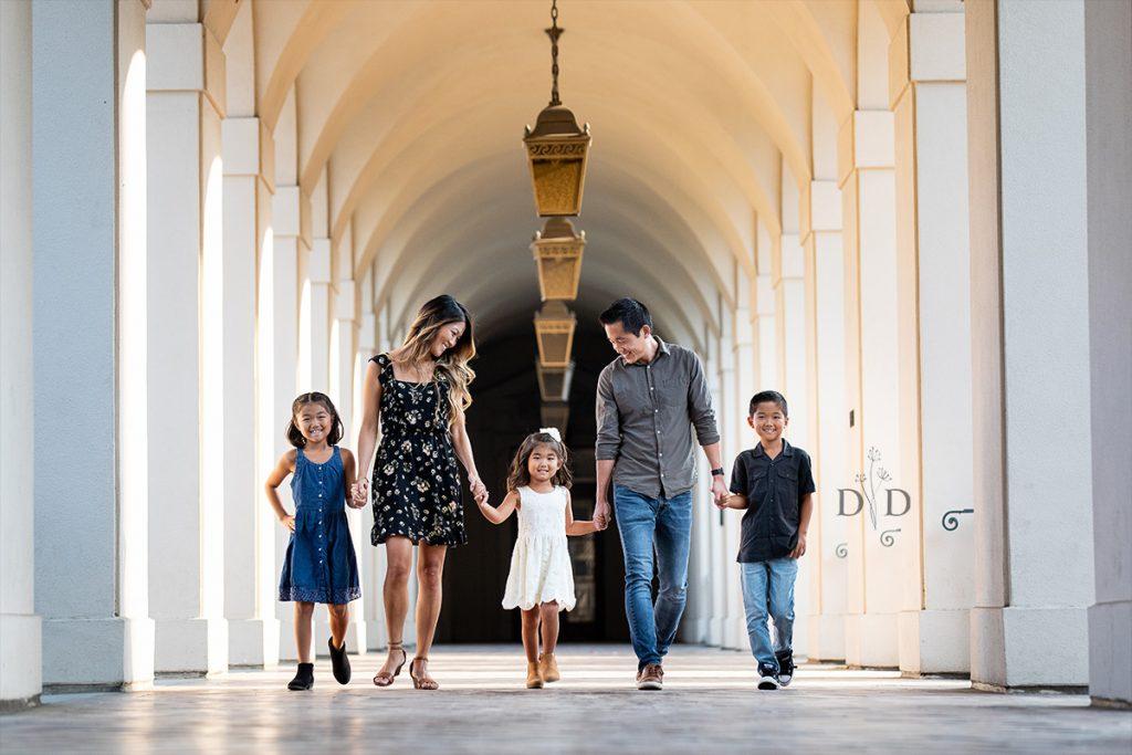Family Photography Pasadena City Hall