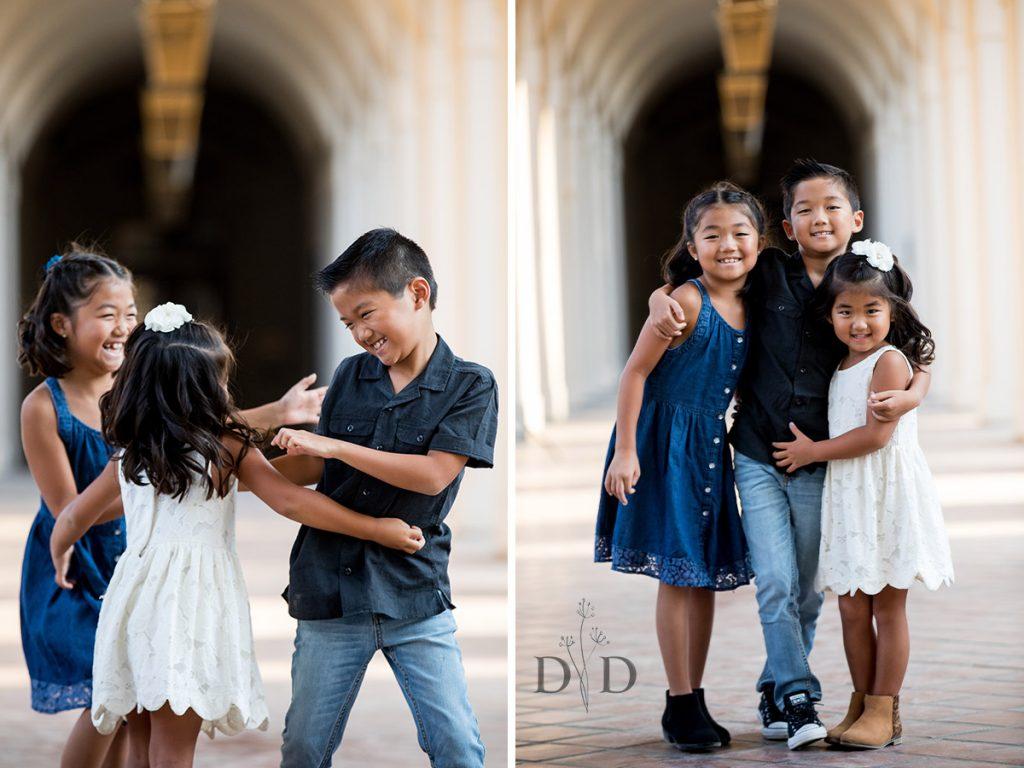 Family Portraits of Three Kids